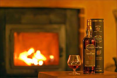 Fire Photograph - Teapot Dram - Highland Single Malt Scotch Whisky By The Famed Glengoyne Distillery by EXparte SE