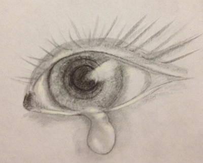 Tear Drawing - Tear by Bozena Zajaczkowska