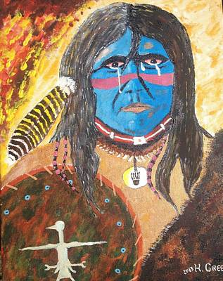 Harold Greer Painting - Tears For The Homeland by Harold Greer