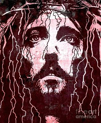 Messiah Digital Art - Tears Of Jesus by Mike Grubb
