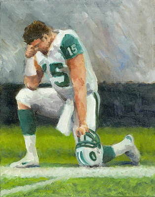Tebow Painting - Tebowing by Joe Maracic