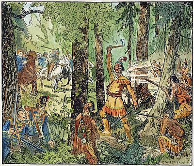 Tecumseh Battlecry, 1813 Print by Granger