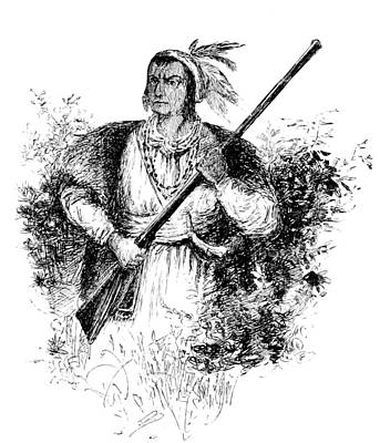Tecumseh, Shawnee Indian Leader Print by British Library