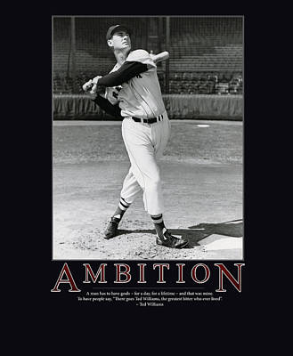 Baseball Uniform Photograph - Ted Williams Ambition by Retro Images Archive