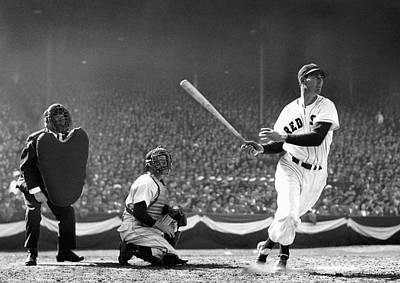 Ted Williams Slams One Print by Daniel Hagerman