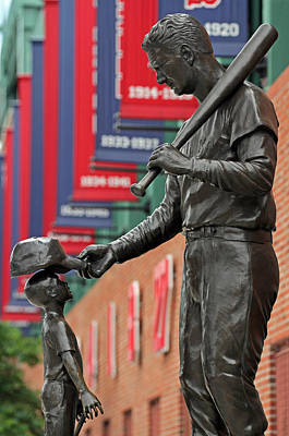 Boston Red Sox Photograph - Ted Williams Tribute by Juergen Roth