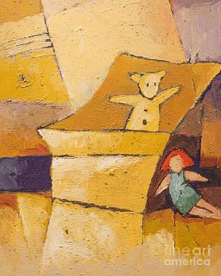 Teddy And Doll Print by Lutz Baar