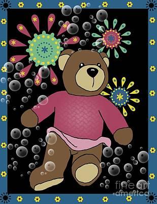Teddy Bear Mixed Media - Teddy Bear 2 by Karen Sheltrown
