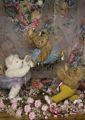 Teddy Bear Ballet Print by Mary J Tait