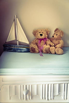 Toy Boat Photograph - Teddy Bears by Jan Bickerton