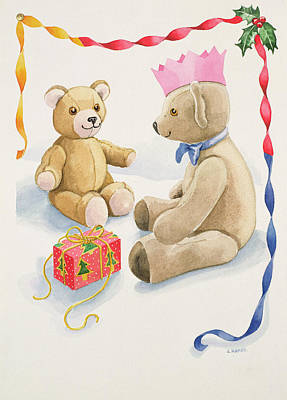 Wrap Drawing - Teddy Bears Parcel by Lavinia Hamer