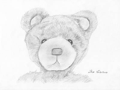 Face Drawing - Teddybear Portrait by Jose Valeriano