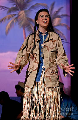 Bloody Mary Photograph - Teen Portrays Bloody Mary In South Pacific Musical Production by Valerie Garner