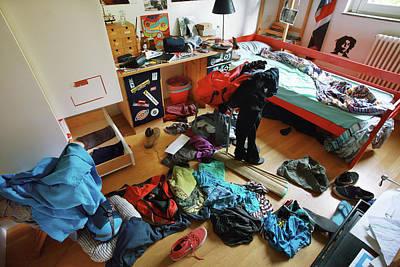 Messy Photograph - Teenage Boy's Bedroom by Mauro Fermariello