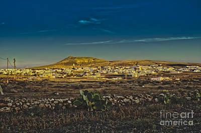 Cloudscape Digital Art - Teguise Village In Lanzarote by Patricia Hofmeester