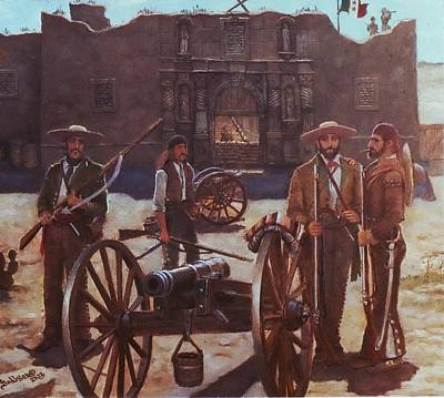 Including Painting - Tejanos At The Alamo by Henry Godines
