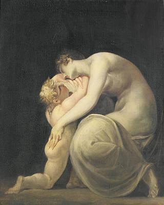 Tekemessa And Eurysakes, C.1800-10 Oil On Canvas Print by Henry Fuseli