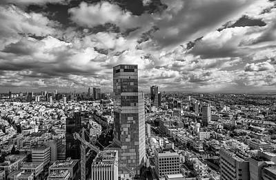 Tel Aviv High And Above Print by Ron Shoshani