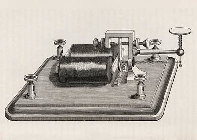 Prescott Photograph - Telegraph Relay Device by King's College London