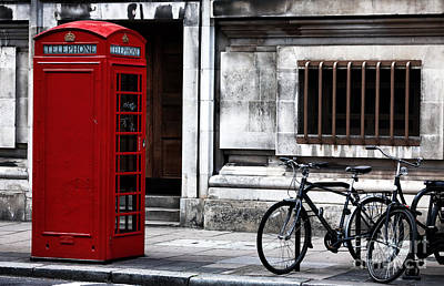 Old Phone Booth Photograph - Telephone In London by John Rizzuto