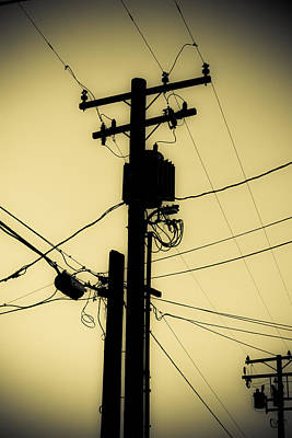 Duo Tone Photograph - Telephone Pole 2 by Scott Campbell