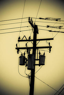 Duo Tone Photograph - Telephone Pole 3 by Scott Campbell