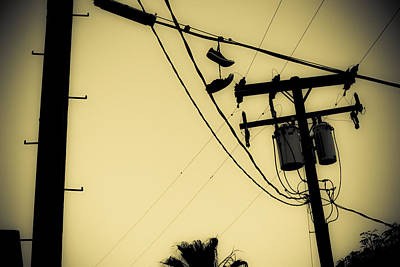Duo Tone Photograph - Telephone Pole 8 by Scott Campbell