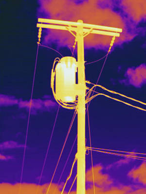 Telephone Poles Photograph - Telephone Pole With Transformer by Science Stock Photography