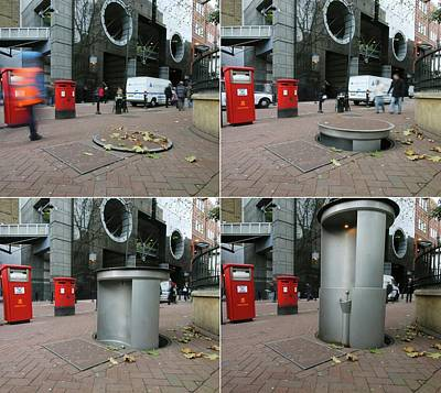 Urinal Photograph - Telescopic Street Toilet by Thierry Berrod, Mona Lisa Production