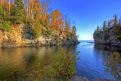 Temperance River Photograph - Temperance River Mouth by Bryan Benson