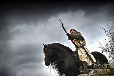 Knight Photograph - Templar Knight Friesian I by Holly Martin