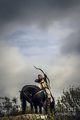 Knight Photograph - Templar Knight Friesian IIi by Holly Martin