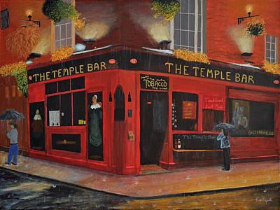 London Painting - Temple Bar Dublin  by Ken Figurski