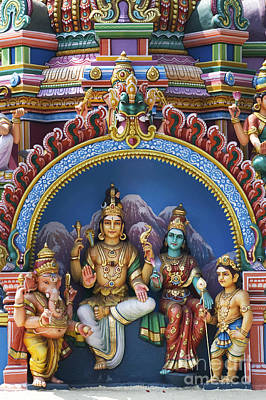 Hindu Goddess Photograph - Temple Deity Statues India by Tim Gainey