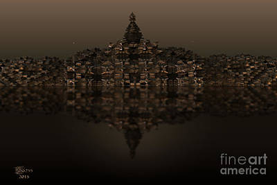 Abstract Digital Art - Temple by Melissa Messick