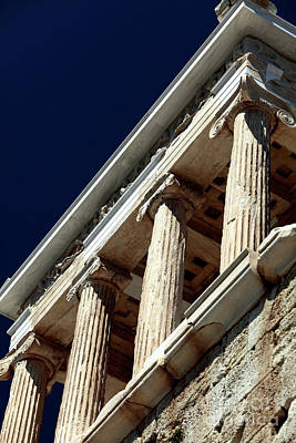 Greek School Of Art Photograph - Temple Of Athena Nike Columns by John Rizzuto
