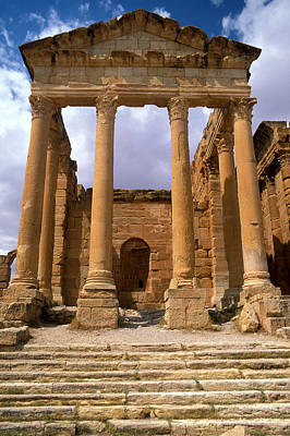 Temple Of Jupiter, Sbeitla, Tunisia Photo Print by .