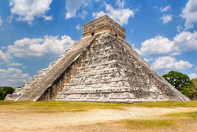 Temple Of Kukulkan At Chichen Itza Print by Mark E Tisdale