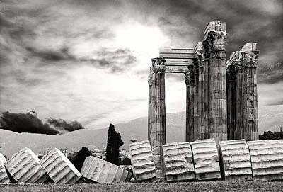 Temple Of Olympian Zeus Print by Manolis Tsantakis