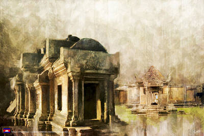 Culture Painting - Temple Of Preah Vihear by Catf