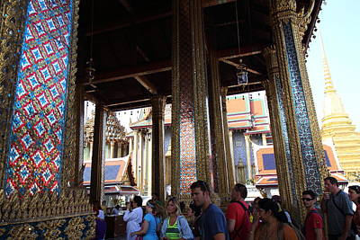 Temple Of The Emerald Buddha - Grand Palace In Bangkok Thailand - 011310 Print by DC Photographer