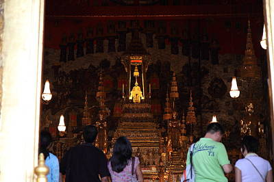 Buddha Photograph - Temple Of The Emerald Buddha - Grand Palace In Bangkok Thailand - 011311 by DC Photographer