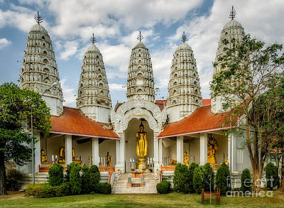 Buddhist Photograph - Temple Towers by Adrian Evans