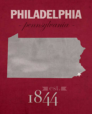 Philadelphia Mixed Media - Temple University Owls Philadelphia Pennsylvania College Town State Map Poster Series No 103 by Design Turnpike