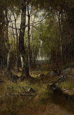 Temple Painting - Temple Woods by Max Weyl
