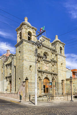 Oaxacan Photograph - Templo De San Felipe Neri - Oaxaca by Mark E Tisdale