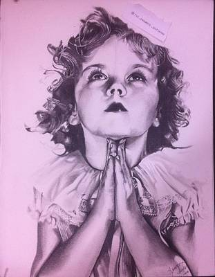 Shirley Temple Drawing - Temporary Temple by Aaron Ingle