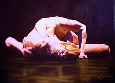 Dance Floor Painting - Temps Danse by Jean Yves Crispo