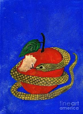 With Scripture Painting - Temptation 2 by Karen Jane Jones