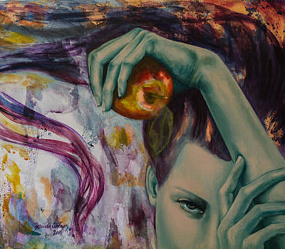 Eva Painting - Temptation  by Dorina  Costras